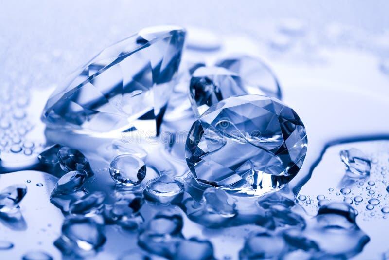 Agua y diamante imagenes de archivo