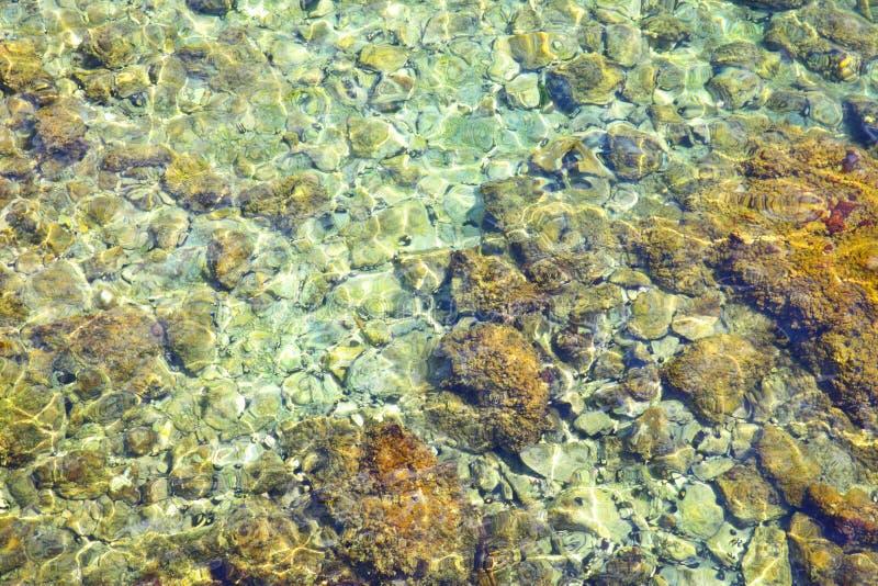 Agua y parte inferior del mar adriático foto de archivo libre de regalías