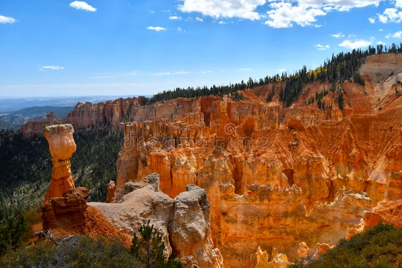 Aguacanion in Bryce Canyon National Park royalty-vrije stock afbeelding