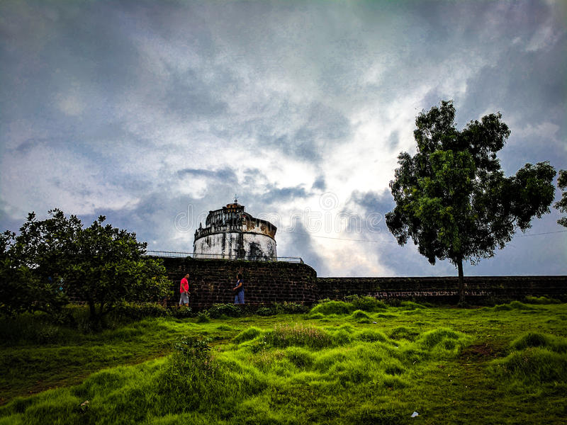 Aguada Fort, Goa, stock photo