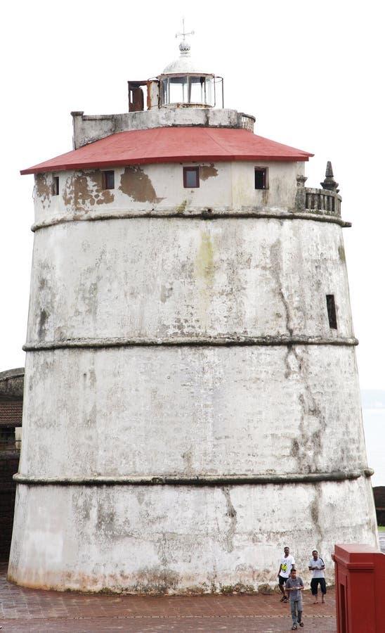 Aguada forte è una fortificazione portoghese del XVII secolo ben conservato immagini stock