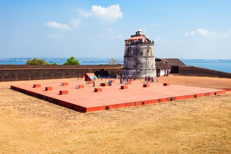 Aguada forte in Goa fotografie stock libere da diritti