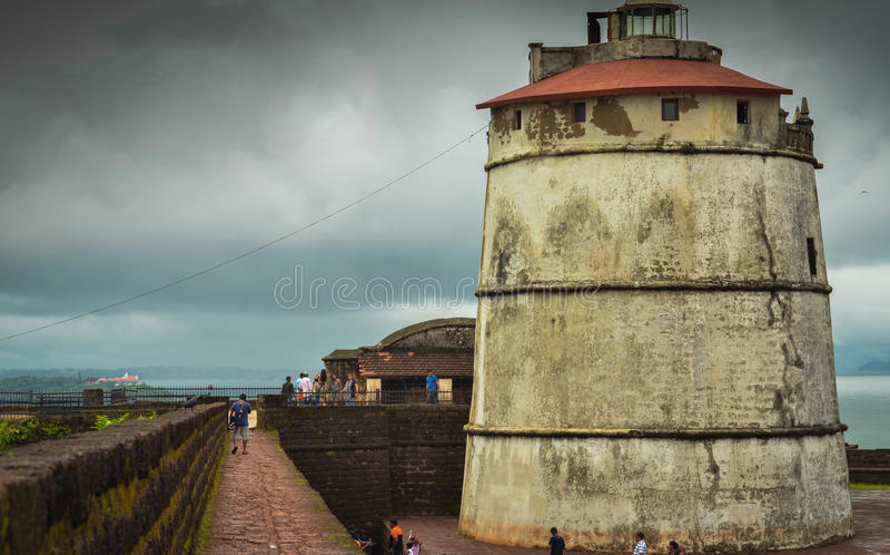 Aguada forte a Goa immagine stock libera da diritti