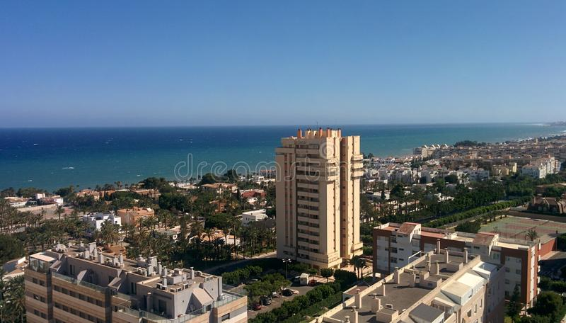Aguadulce& x27; praia de s & x28; Spain& x29; fotos de stock