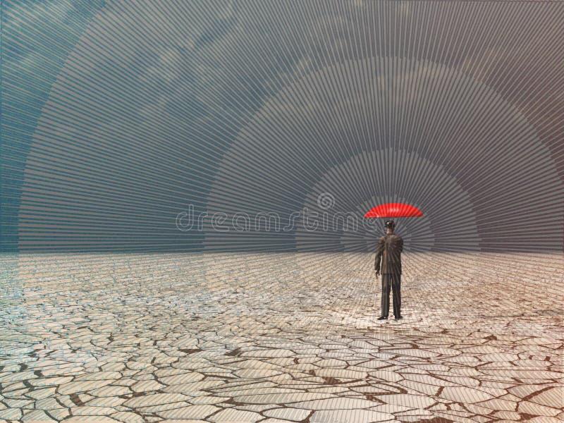 Aguardar la tormenta libre illustration