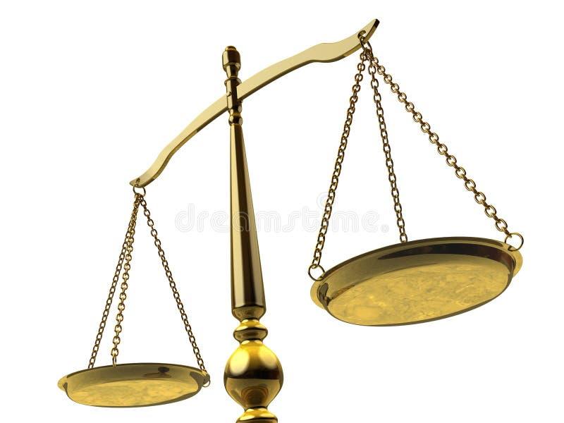 Aguarde de justicia ilustración del vector