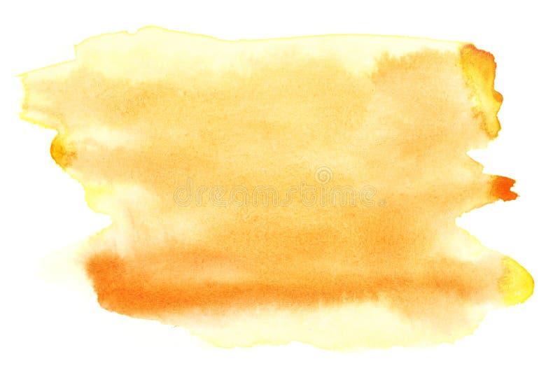 Aguarela amarela imagens de stock