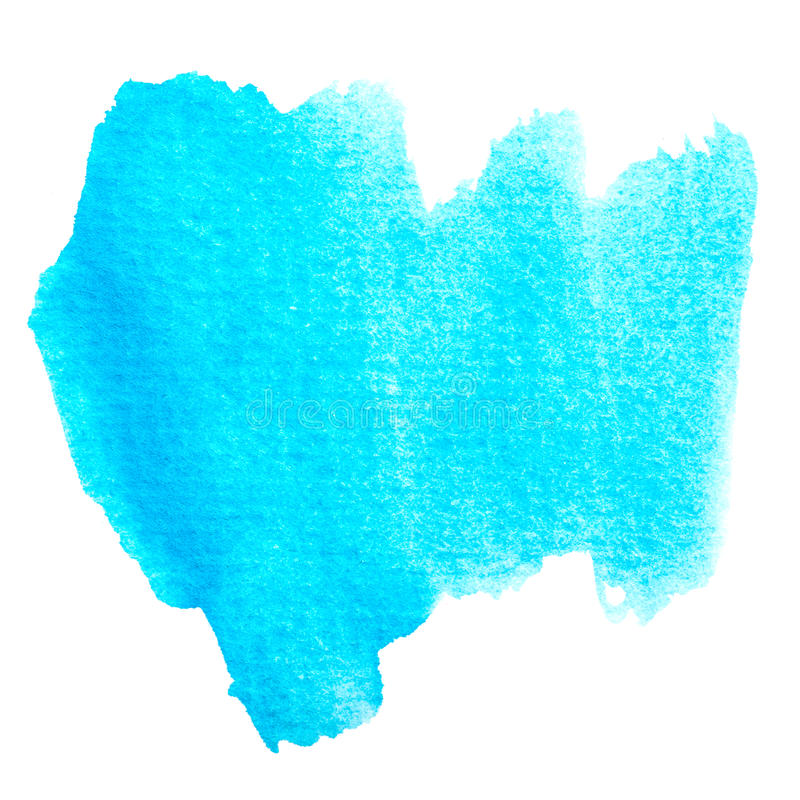Aguarela azul abstrata fundo pintado dos trabalhos com pincel. ilustração do vetor
