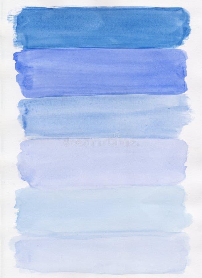 Aguarela azul Handpainted fotografia de stock royalty free
