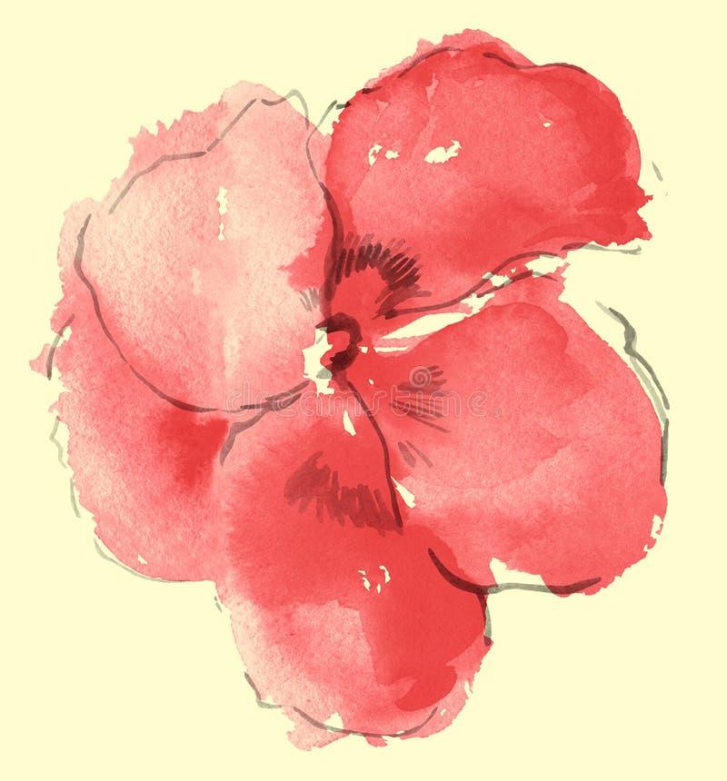 Aguarela de sakura ilustração stock