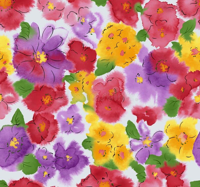 Aguarela do fundo da flor ilustração royalty free