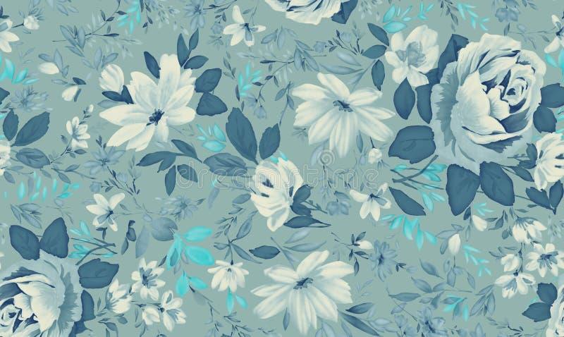 Aguarela do fundo floral ilustração stock