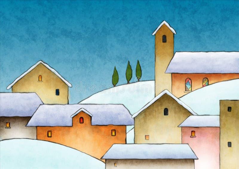 Aguarela do Natal ilustração stock