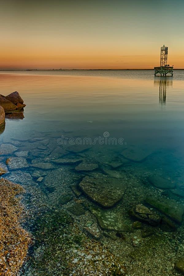 Aguas bajas de la bahía fotografía de archivo