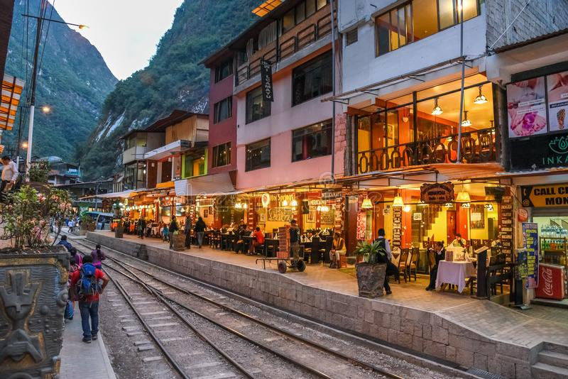 Aguas Calientes/Cusco/Machu Picchu /Peru 07 15 2017 images stock