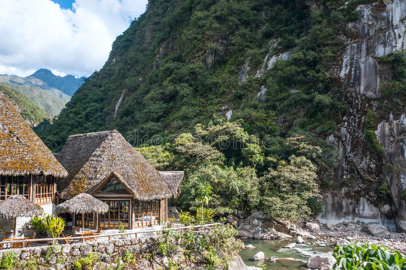 Aguas Calientes, en el pie de Machu Picchu imagen de archivo libre de regalías