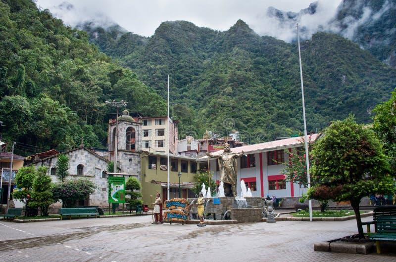 Aguas Calientes (Machu Picchu) i Peru arkivbild
