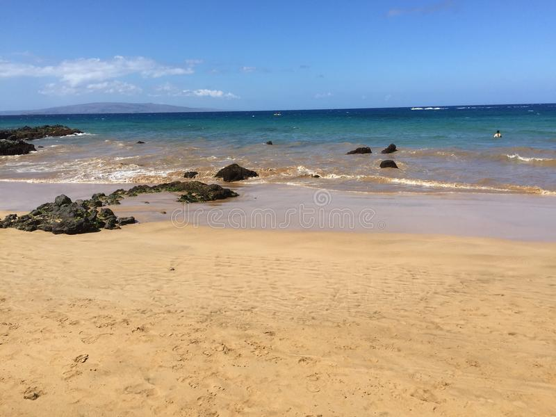 Aguas de Maui fotografía de archivo