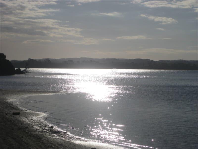 Aguas del océano de la playa de Clarks fotografía de archivo