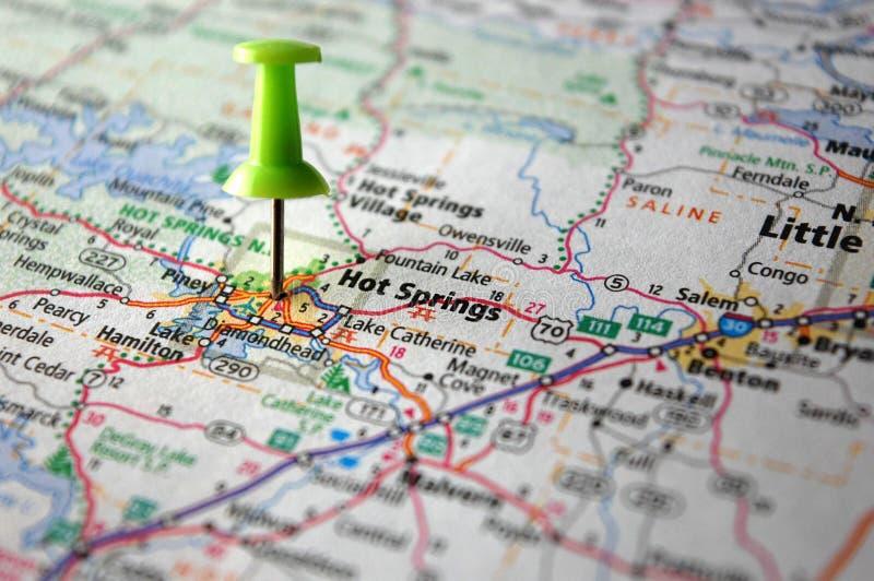 Aguas termales, Arkansas imagen de archivo libre de regalías