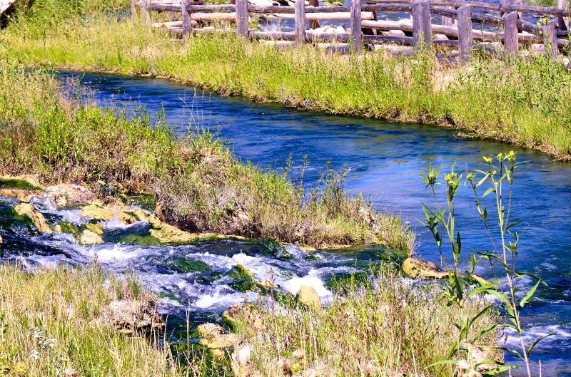 Aguas termales cerca de Yellowstone fotos de archivo libres de regalías