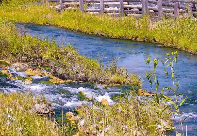Aguas termales cerca de Yellowstone imagen de archivo libre de regalías