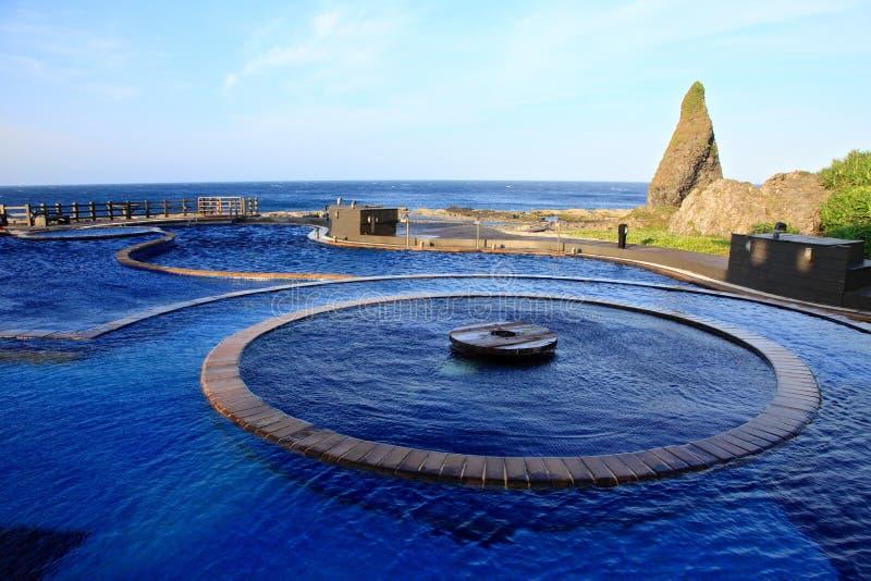 Aguas termales de Jhaorih, isla verde, Taiwán fotos de archivo