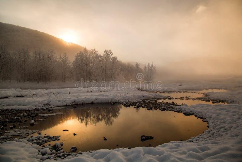 Aguas termales de Malki, Kamchatka fotografía de archivo libre de regalías