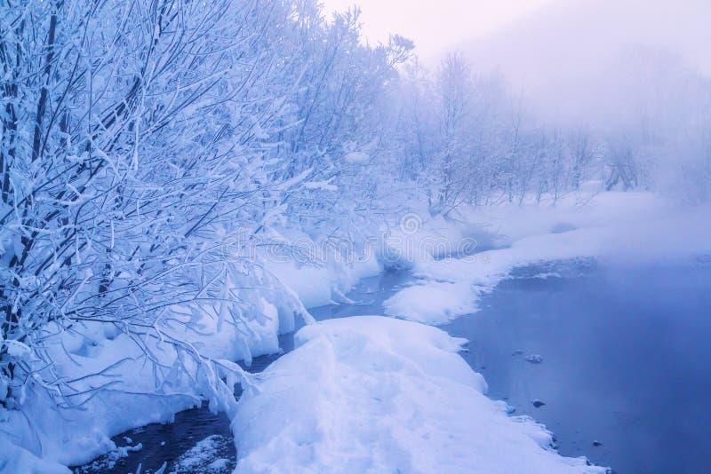 Aguas termales de Malkinsky en Kamchatka fotos de archivo libres de regalías