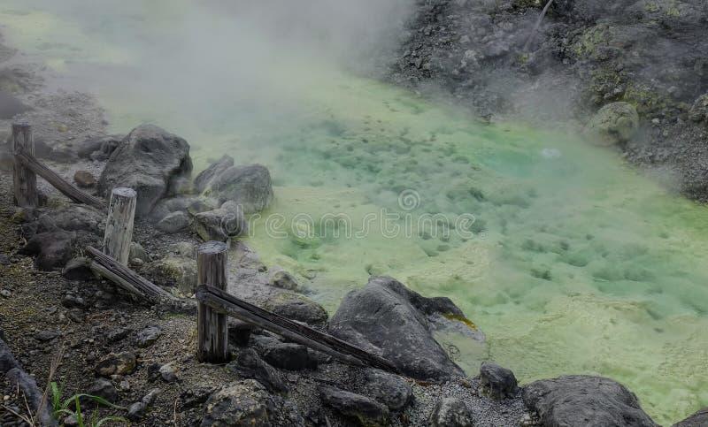 Aguas termales de Tamagawa en Akita, Japón foto de archivo libre de regalías