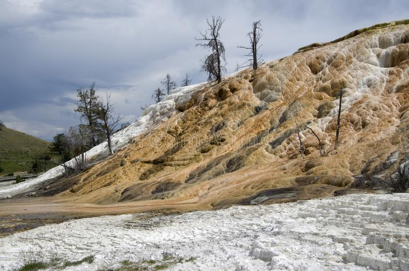 Aguas termales gigantescas yellowstone imagen de archivo libre de regalías