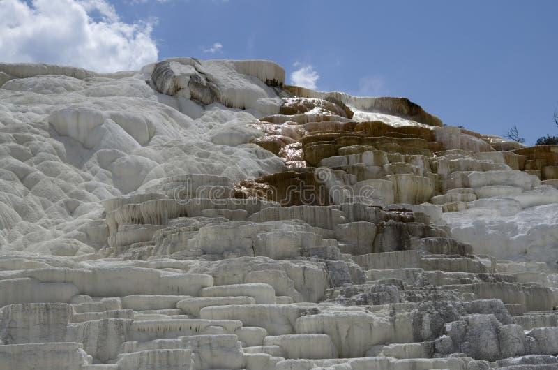 Aguas termales gigantescas yellowstone fotografía de archivo libre de regalías