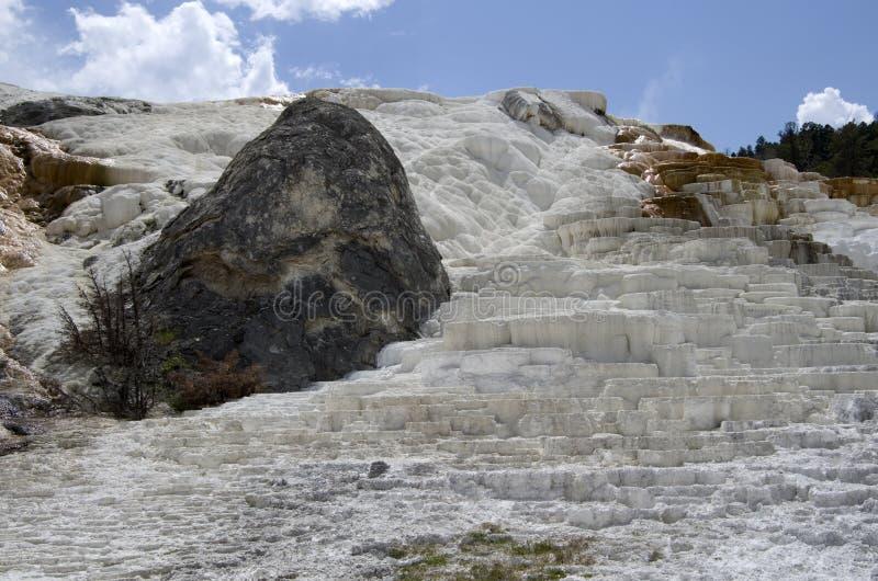 Aguas termales gigantescas yellowstone fotos de archivo libres de regalías