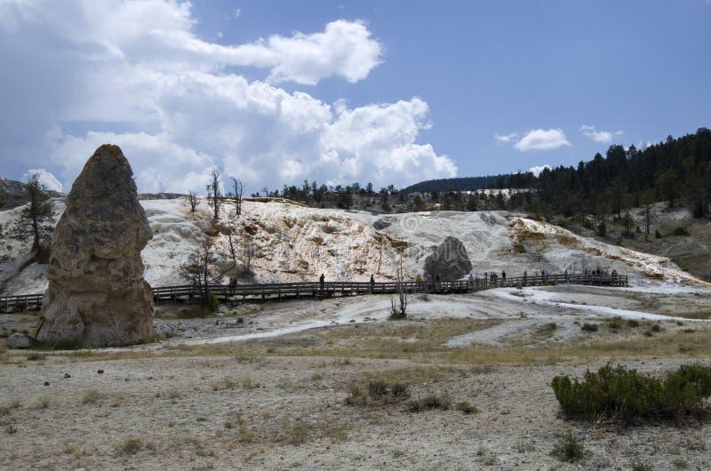 Aguas termales gigantescas yellowstone imágenes de archivo libres de regalías