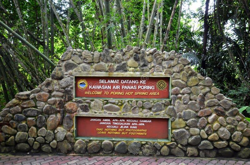 Aguas termales Poring, Sabah, Malasia fotos de archivo