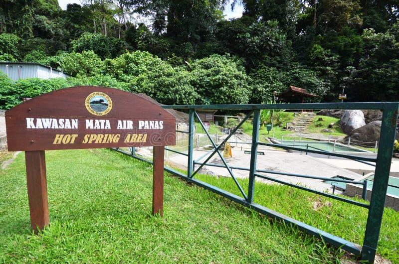 Aguas termales Poring, Sabah, Malasia imágenes de archivo libres de regalías
