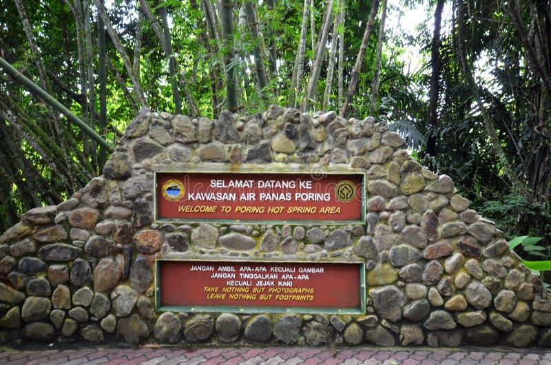 Aguas termales Poring, Sabah, Malasia imagenes de archivo