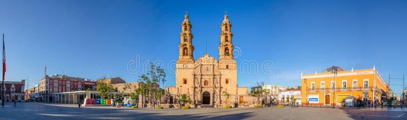 Aguascalientes. Mexico - November 23, 2019: Catedral Basilica De Nuestra Señora De La Asunción, in the Plaza de la Patria, in royalty free stock image