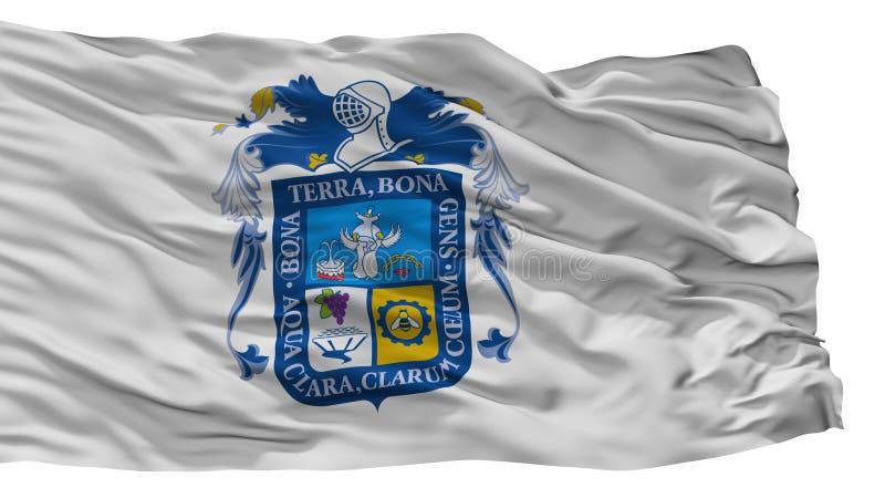 Aguascalientes stadsflagga, Mexico som isoleras på vit bakgrund vektor illustrationer