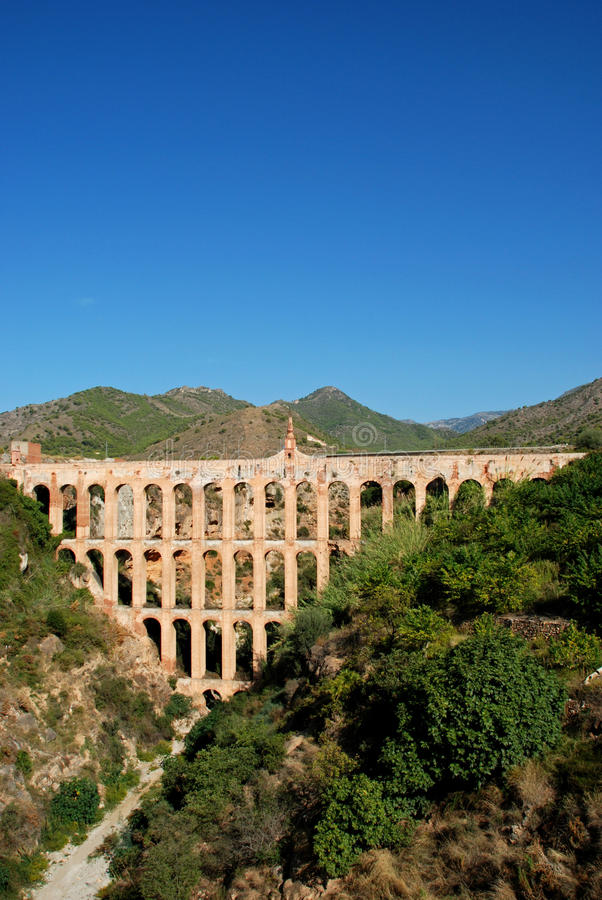 Aguila Aqueduct Nerja Royalty Free Stock Photography
