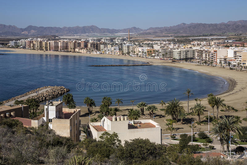 Aguilas - Costa Blanca - Spain. The Mediterranean port of Aguilas on the Costa Calida in Murcia in southeastern Spain royalty free stock photography