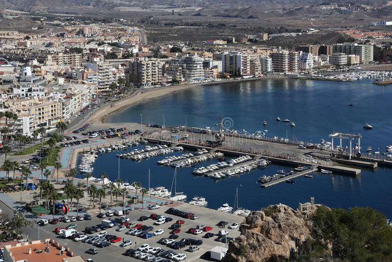 Aguilas - Costa Calida - Spain. The Mediterranean port of Aguilas on the Costa Calida in Murcia in southeastern Spain stock photos