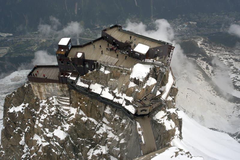 Aguille du Midi schronienie obrazy stock