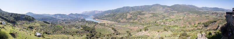 Aguilon lookout, Hornos de Segura, Guadalquivir river view, Jaen, Spain.  royalty free stock photo