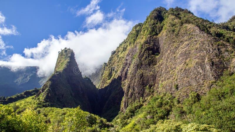Aguja de Iao, Maui imagenes de archivo