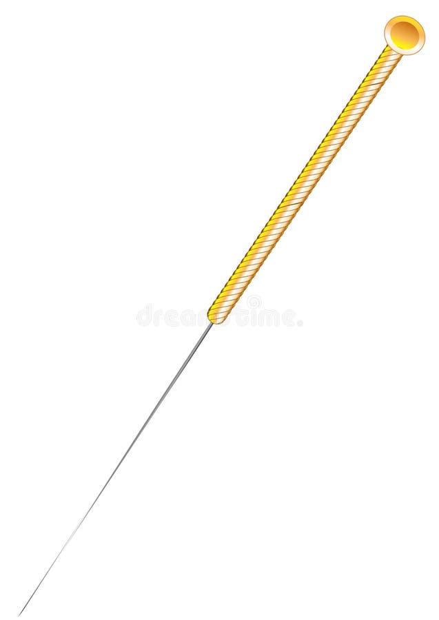 Aguja de la acupuntura libre illustration