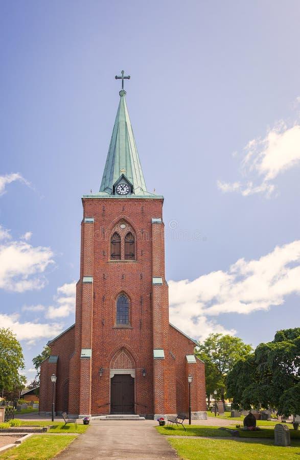 Aguja de la iglesia de Rya foto de archivo libre de regalías