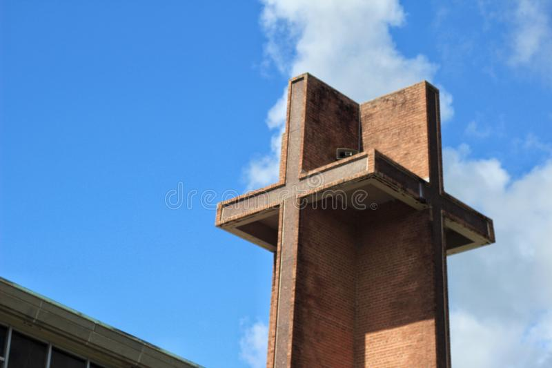 Aguja de la iglesia de Luisiana fotos de archivo