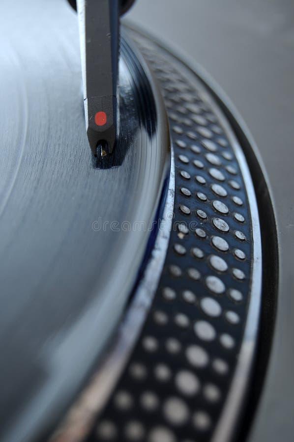 Aguja de registro de DJ fotografía de archivo libre de regalías