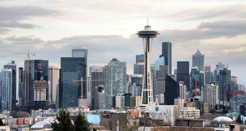 Aguja del horizonte y del espacio de Seattle imágenes de archivo libres de regalías